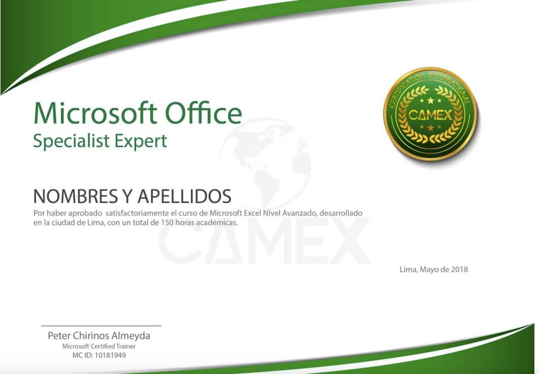 certificacion microsoft office