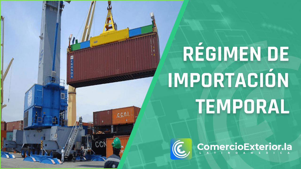 Régimen de importación temporal peru