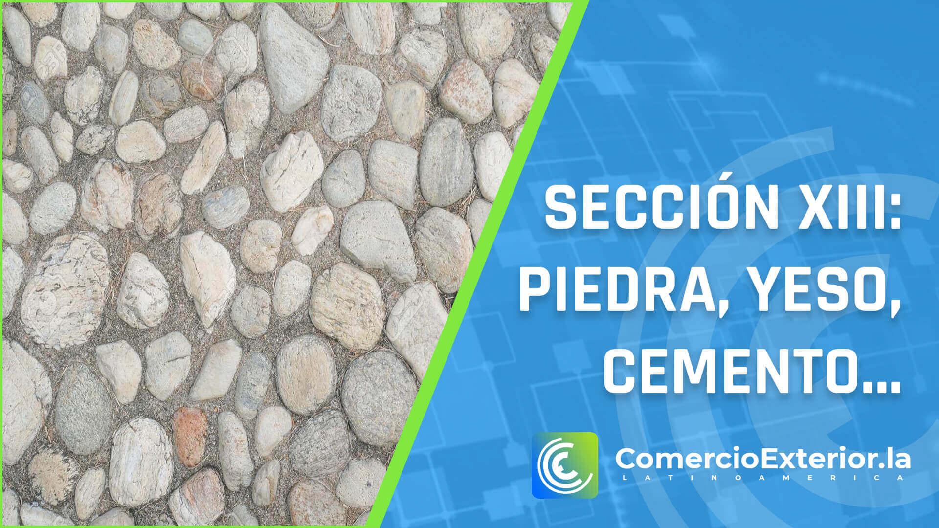 Partida arancelaria - Manufacturas de piedra, yeso fraguable, cemento, amianto, mica o materias análogas