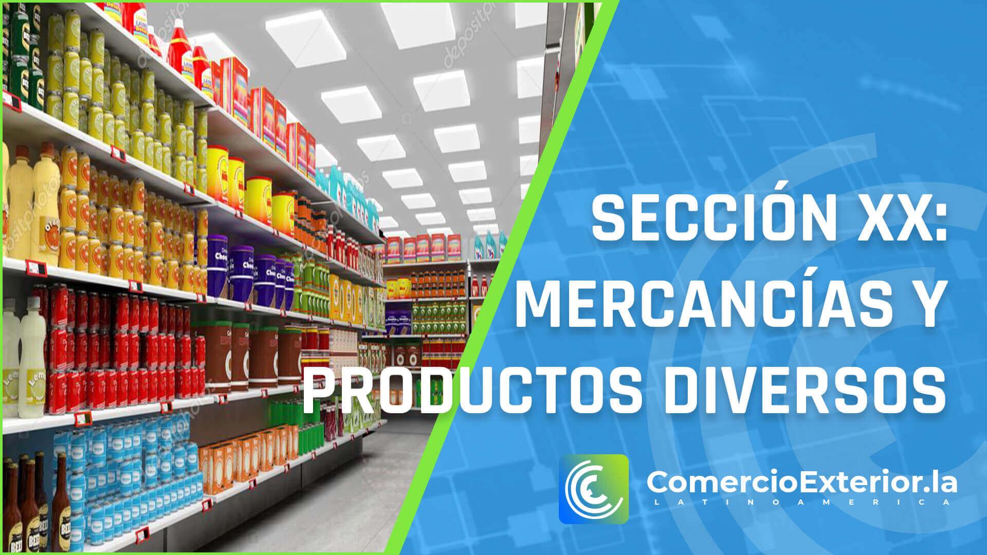 Mercancías y productos diversos