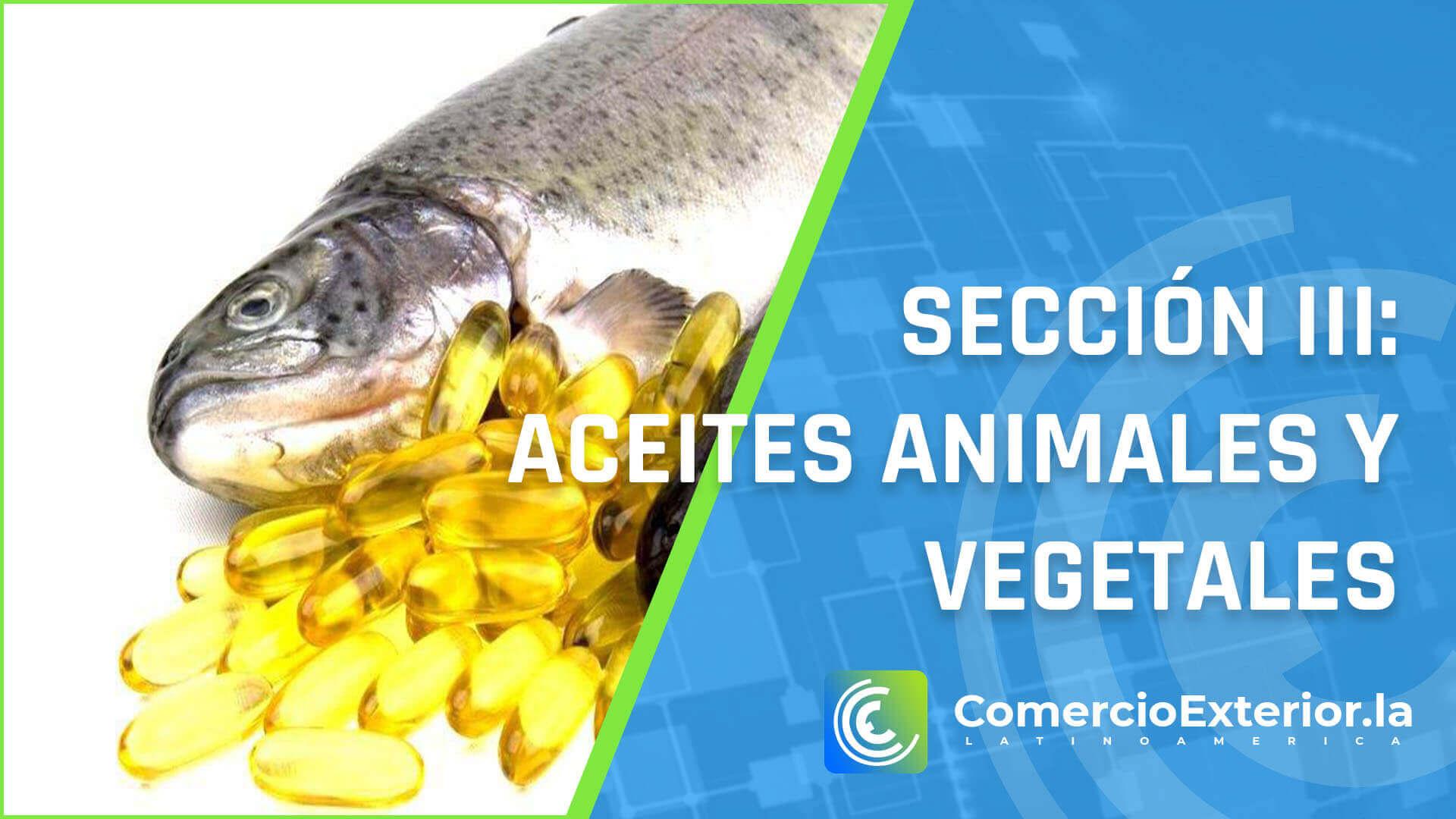aceites animales y vegetales