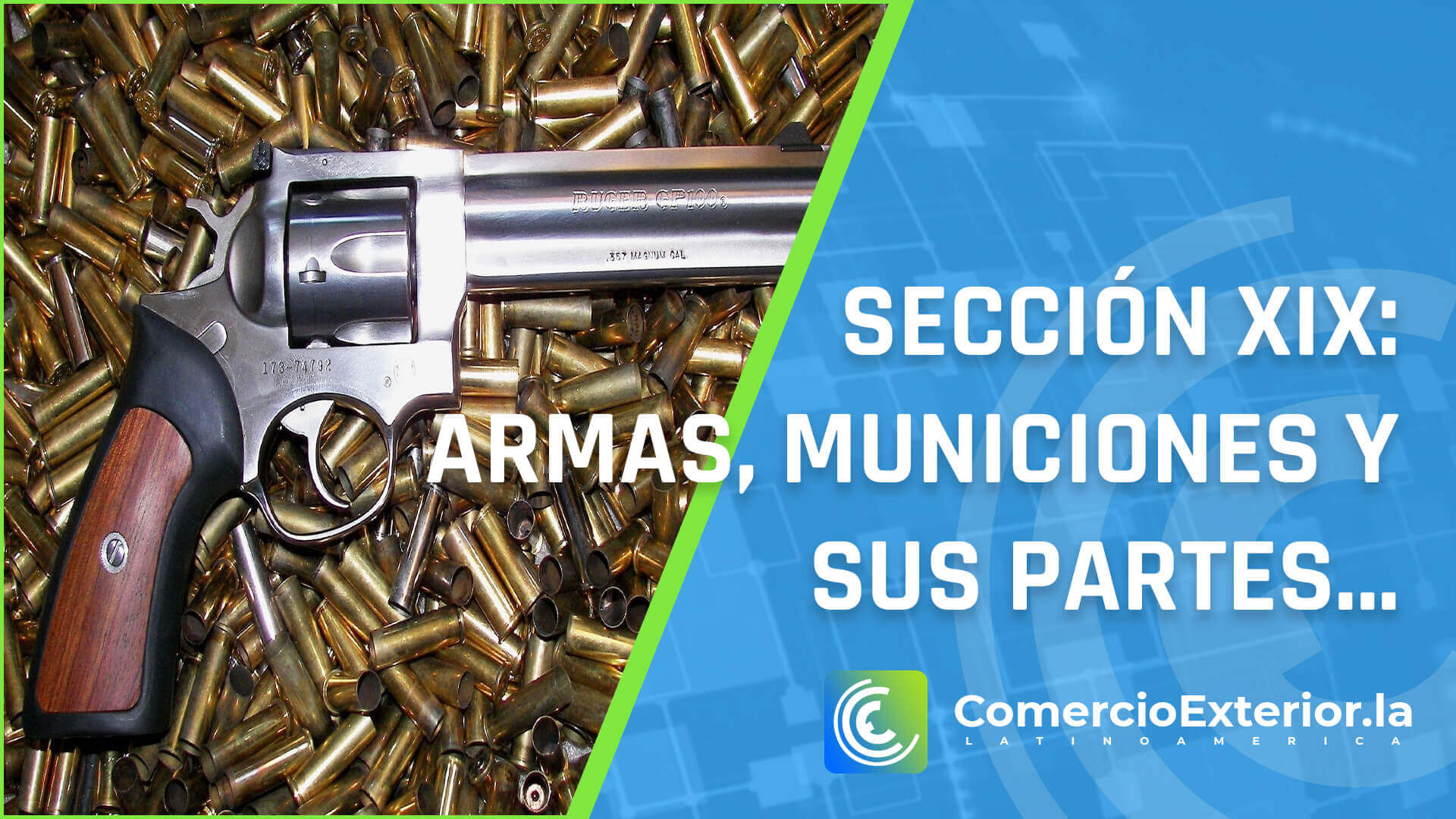 municiones y sus partes y accesorios